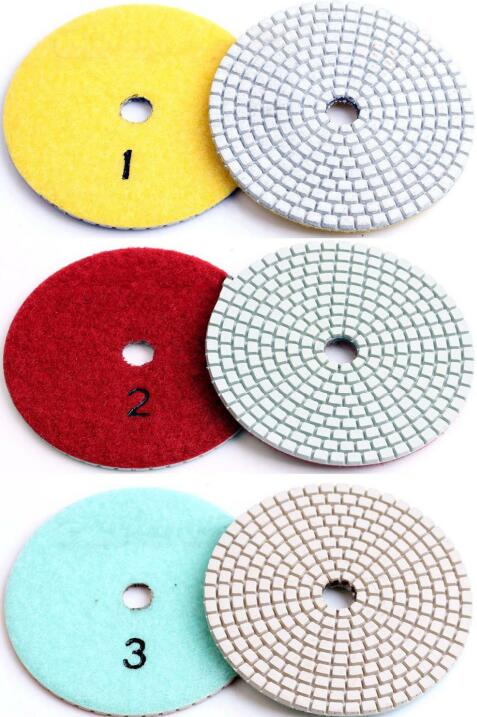 three step polishing pads for dry/wet use
