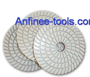 3 step polishing pad wet use