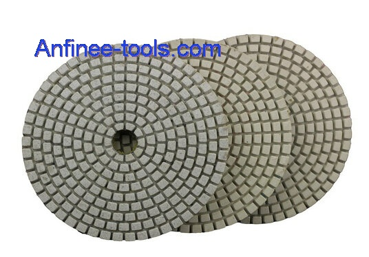 three step polishing pads for dry  use AF-WDP3S